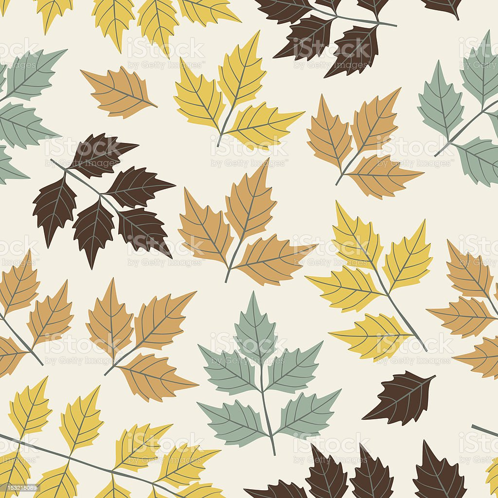 Seamless leaf pattern. royalty-free stock vector art