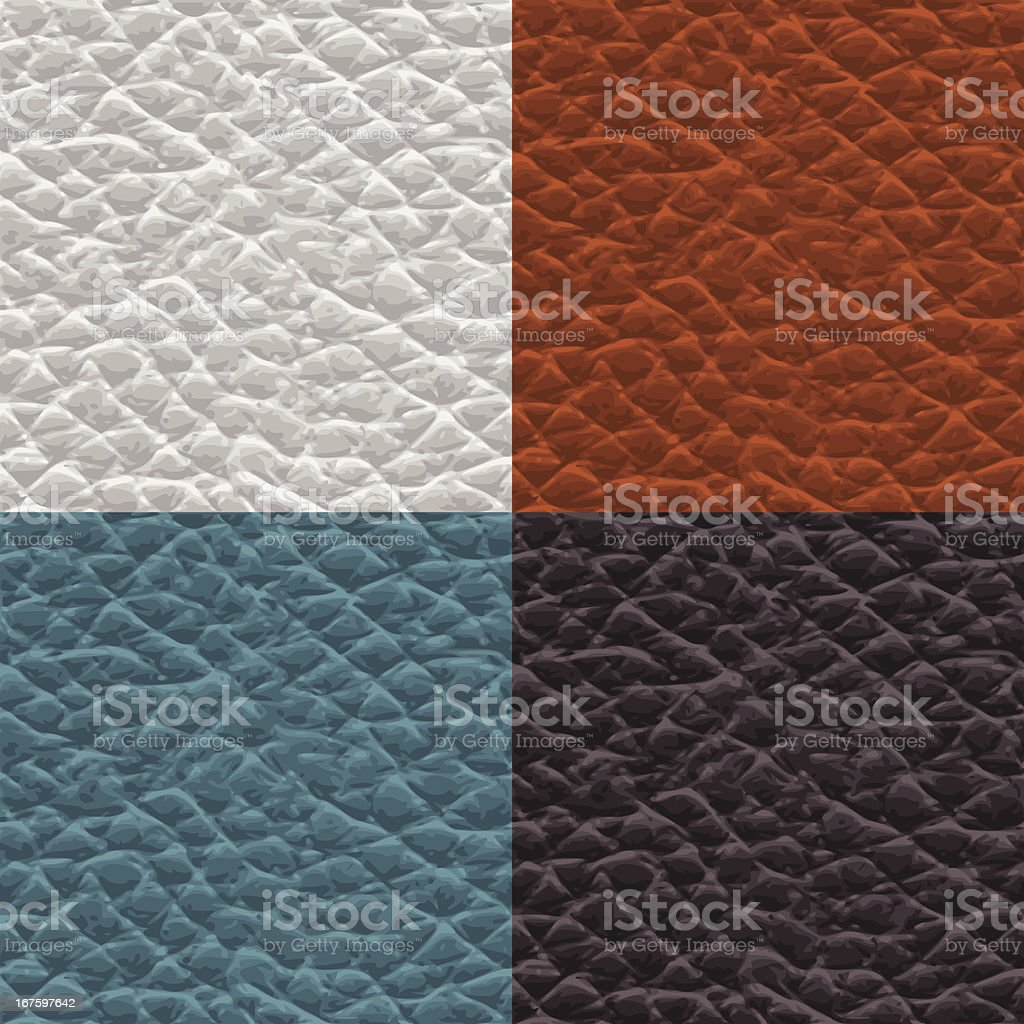 Seamless leather swatches vector art illustration