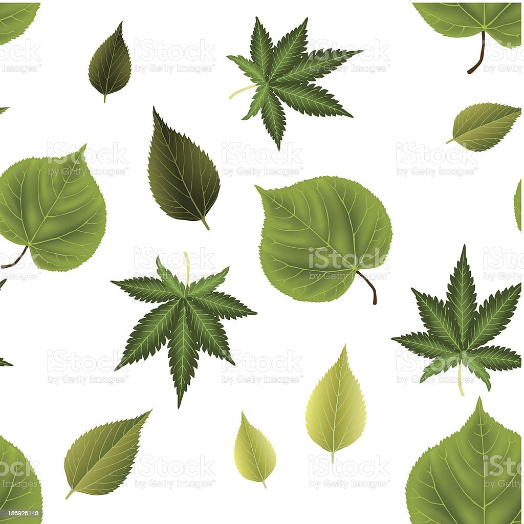 seamless leaves background royalty-free stock vector art