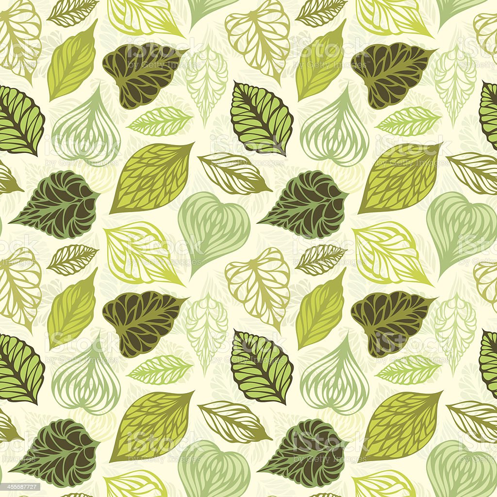 Seamless leaves pattern royalty-free stock vector art
