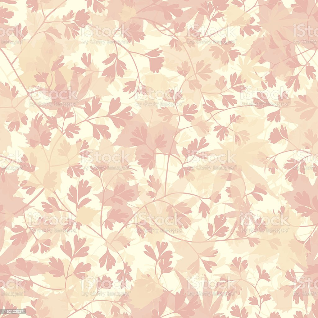 Seamless leaves wallpaper background royalty-free stock vector art