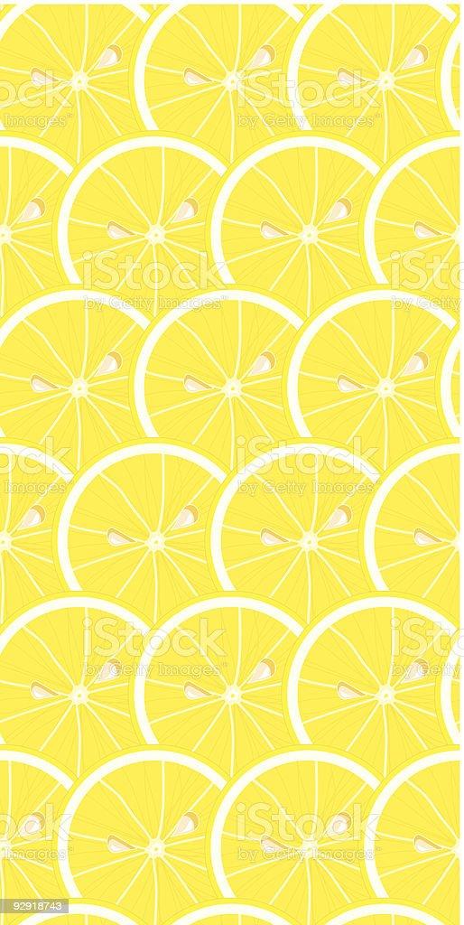 Seamless Lemony Wallpaper Pattern vector art illustration