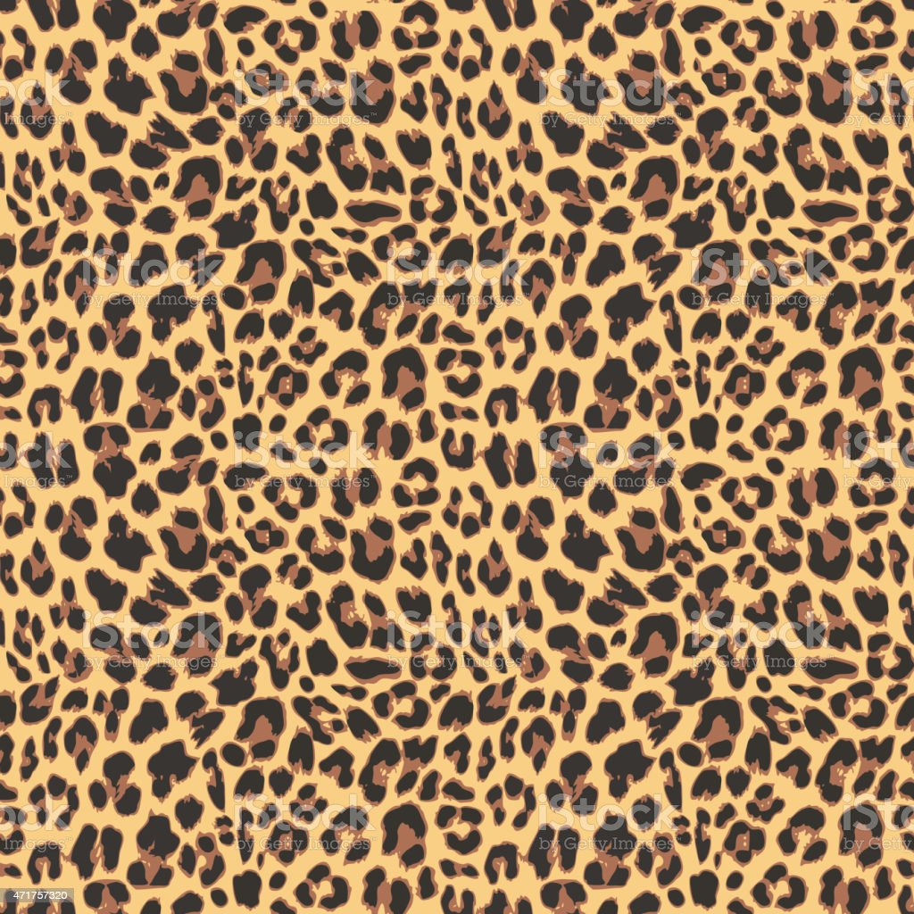 Seamless leopard pattern background design vector art illustration
