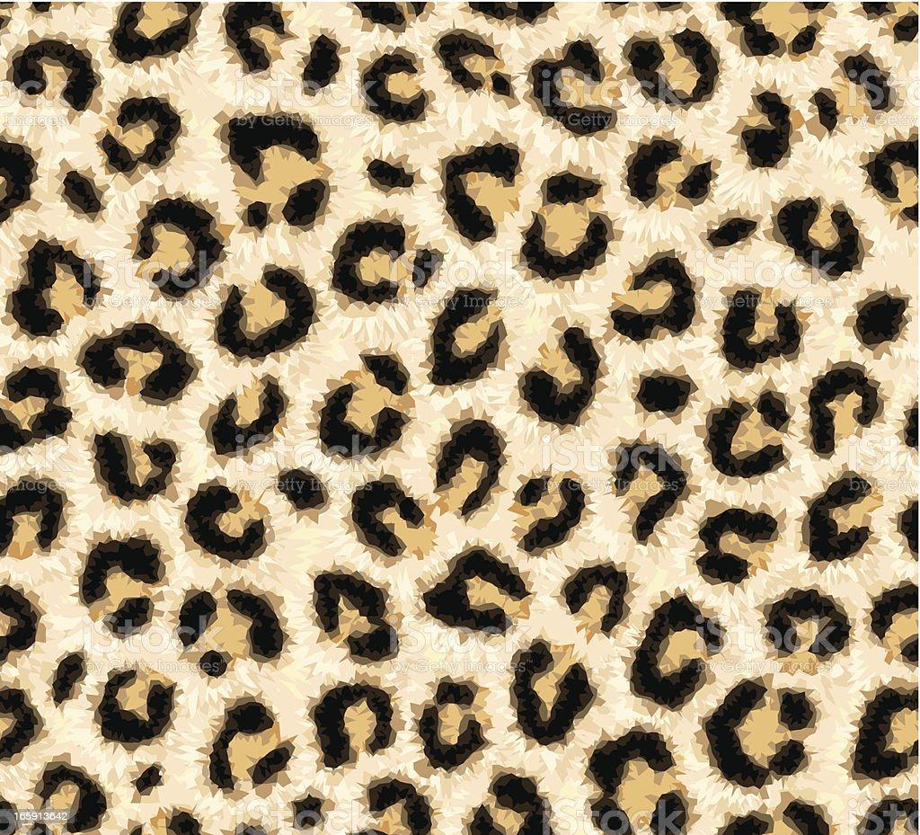 Seamless leopard skin pattern vector art illustration