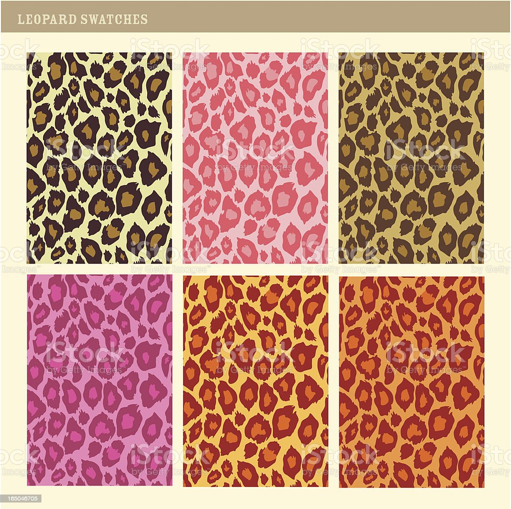 seamless leopard swatches royalty-free stock vector art