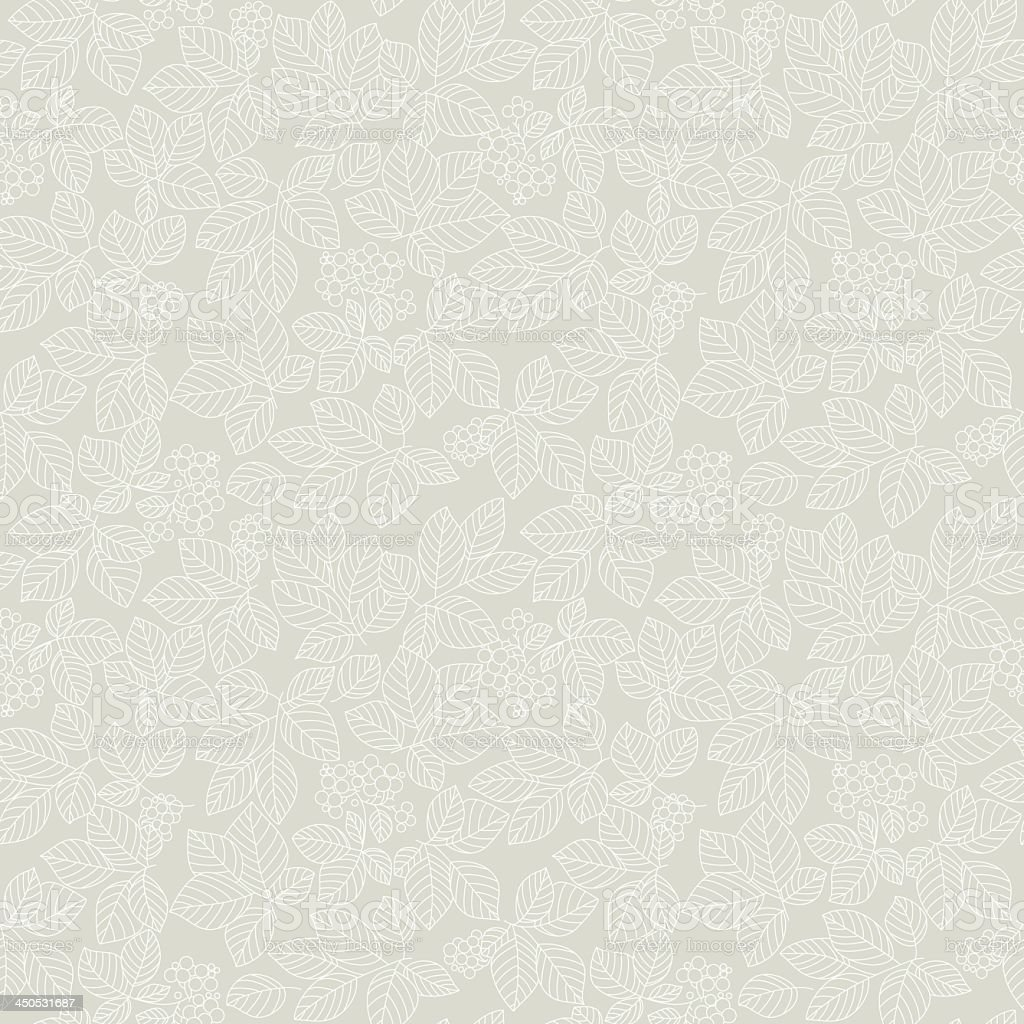 Seamless light beige leaf pattern royalty-free stock vector art