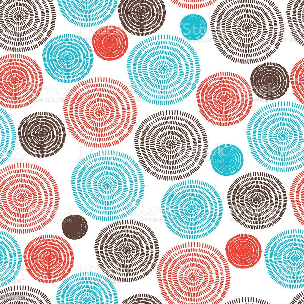 Seamless lines pattern with colorful hyphen and coli vector art illustration
