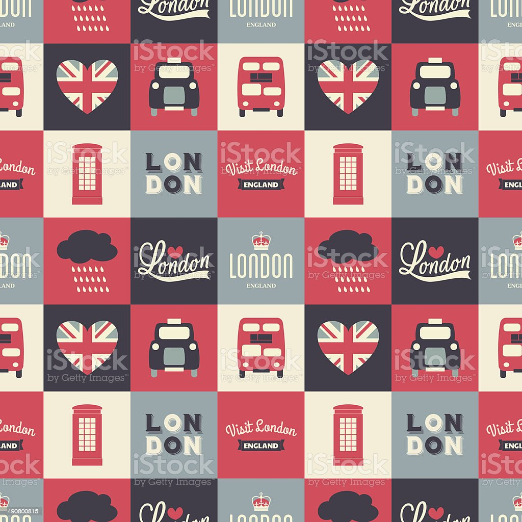 Seamless London Background vector art illustration