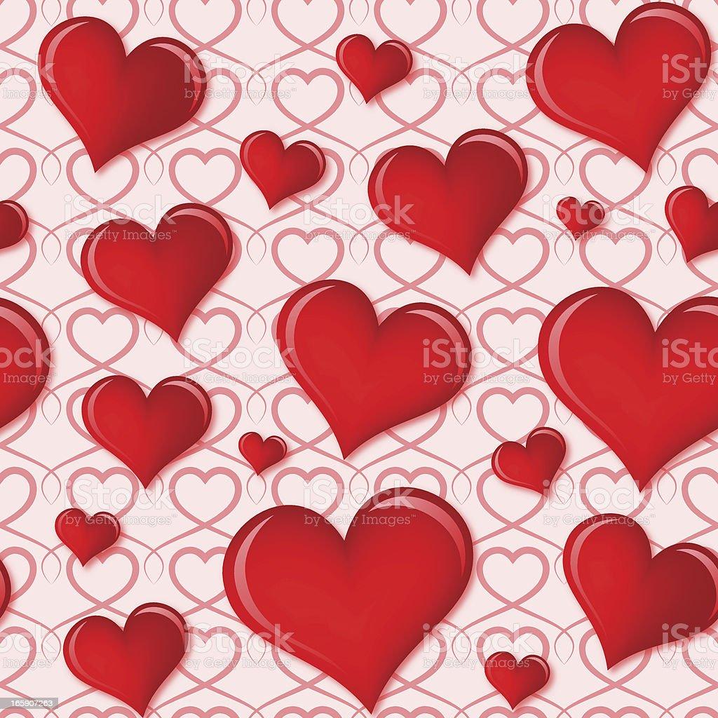 Seamless Love Background vector art illustration