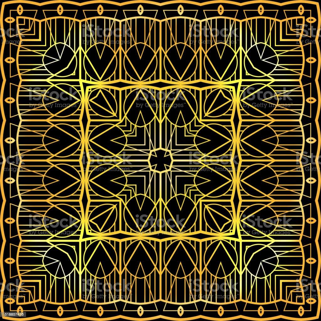 Seamless luxurious gold vintage texture vector art illustration
