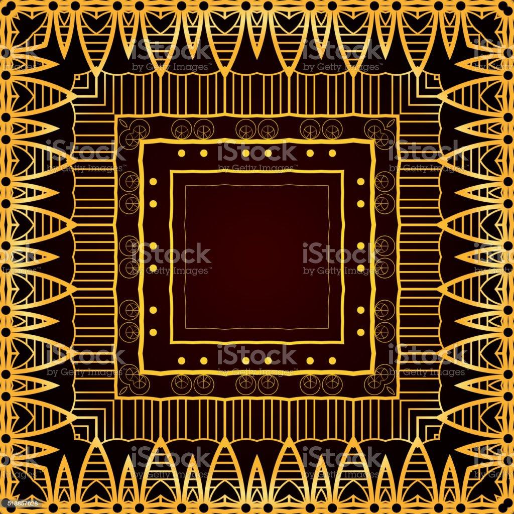 Seamless luxurious gold vintage texture. vector art illustration