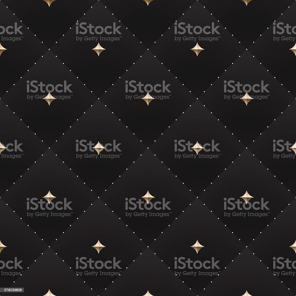 Seamless luxury dark black pattern and background vector art illustration