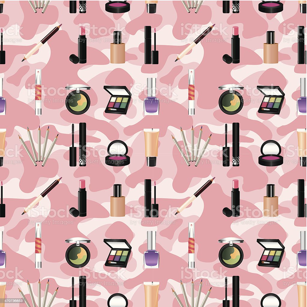 seamless makeup pattern royalty-free stock vector art