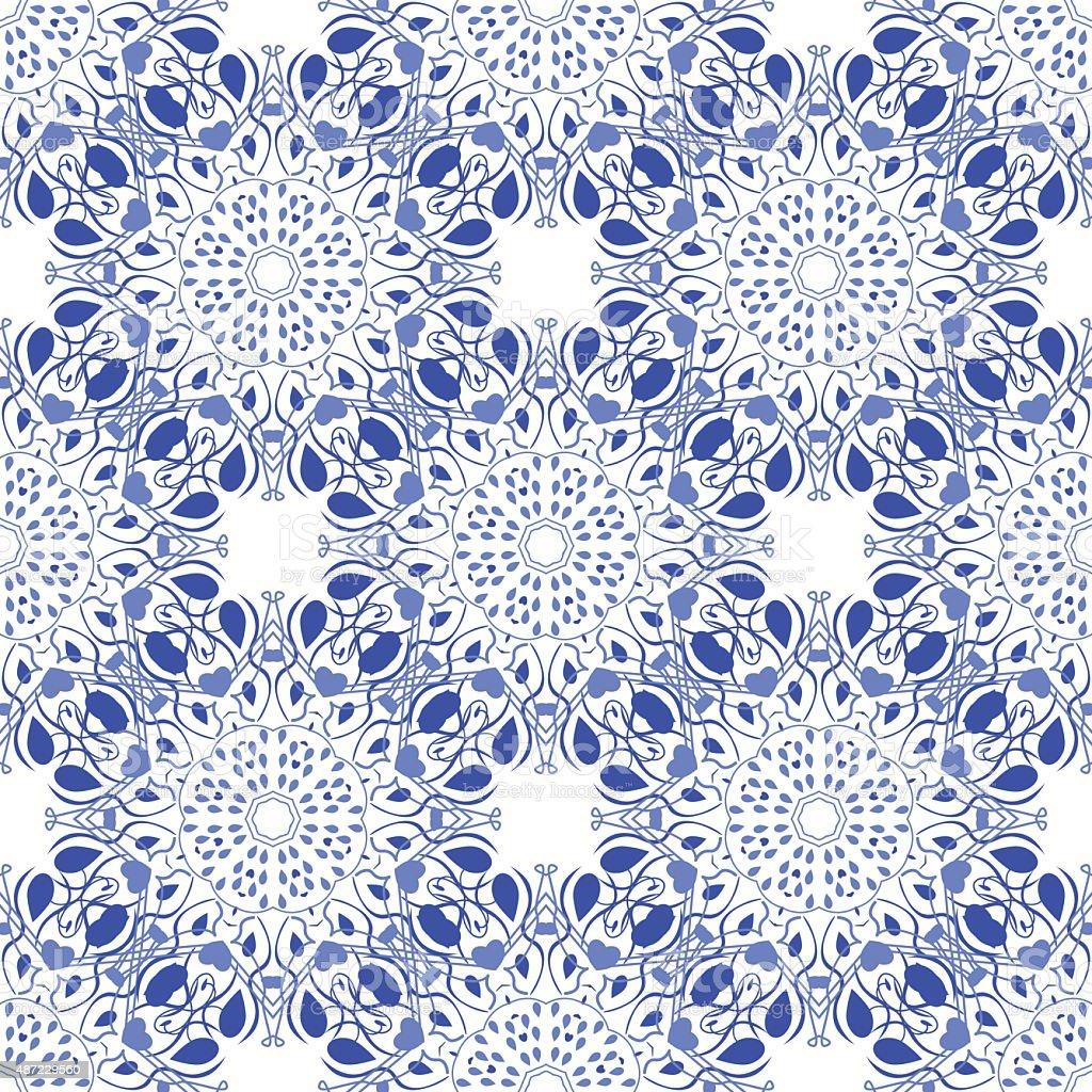 Seamless mandala pattern in moroccan arabic style vector art illustration