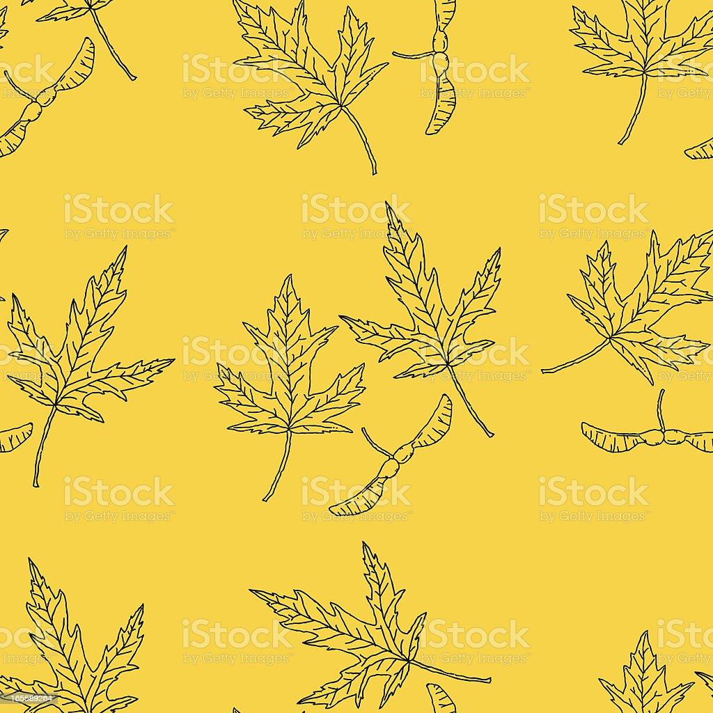 Seamless Maple Wallpaper royalty-free stock vector art