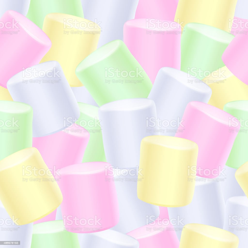 Seamless marshmallow background. royalty-free stock vector art