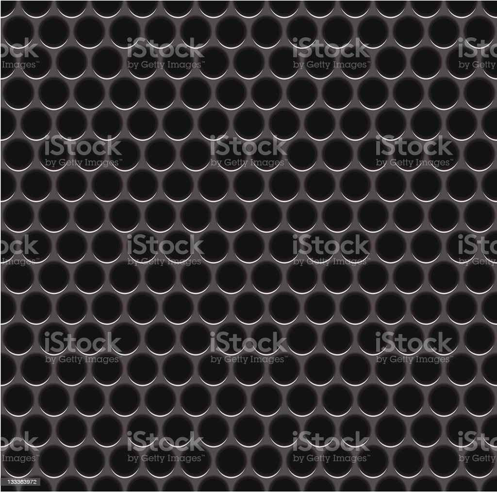 Seamless metal speaker grill background royalty-free stock vector art