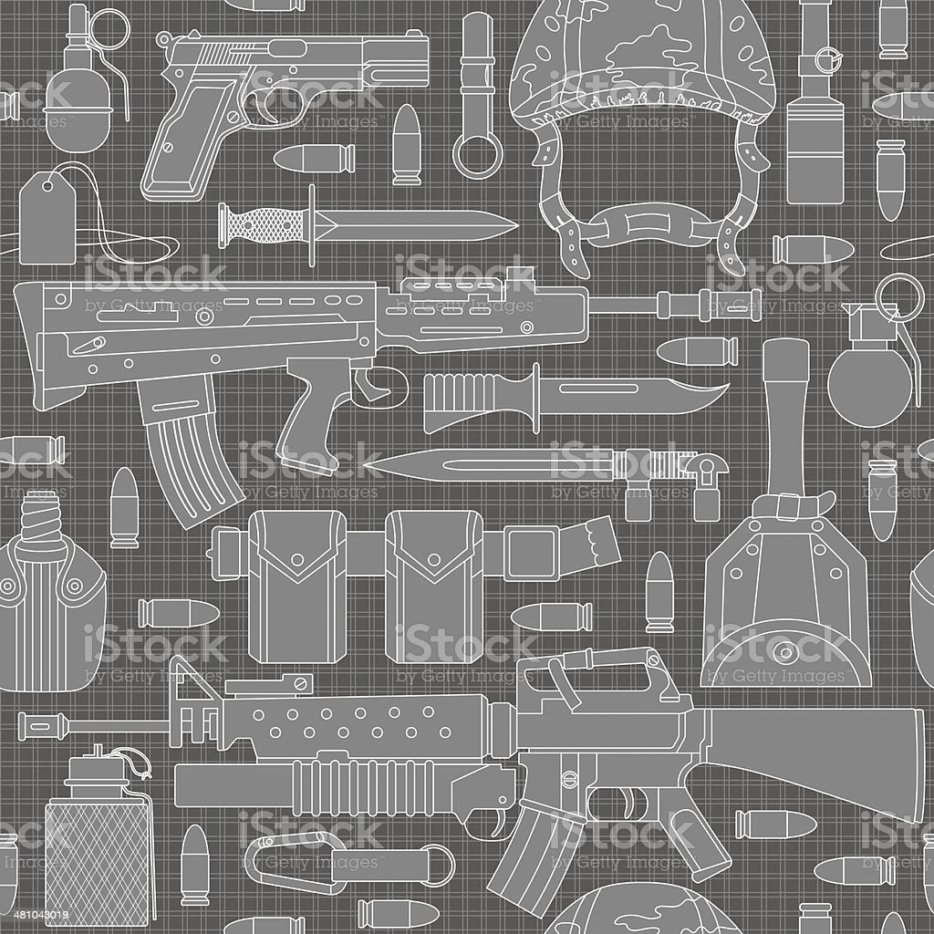 seamless military pattern 01 royalty-free stock vector art