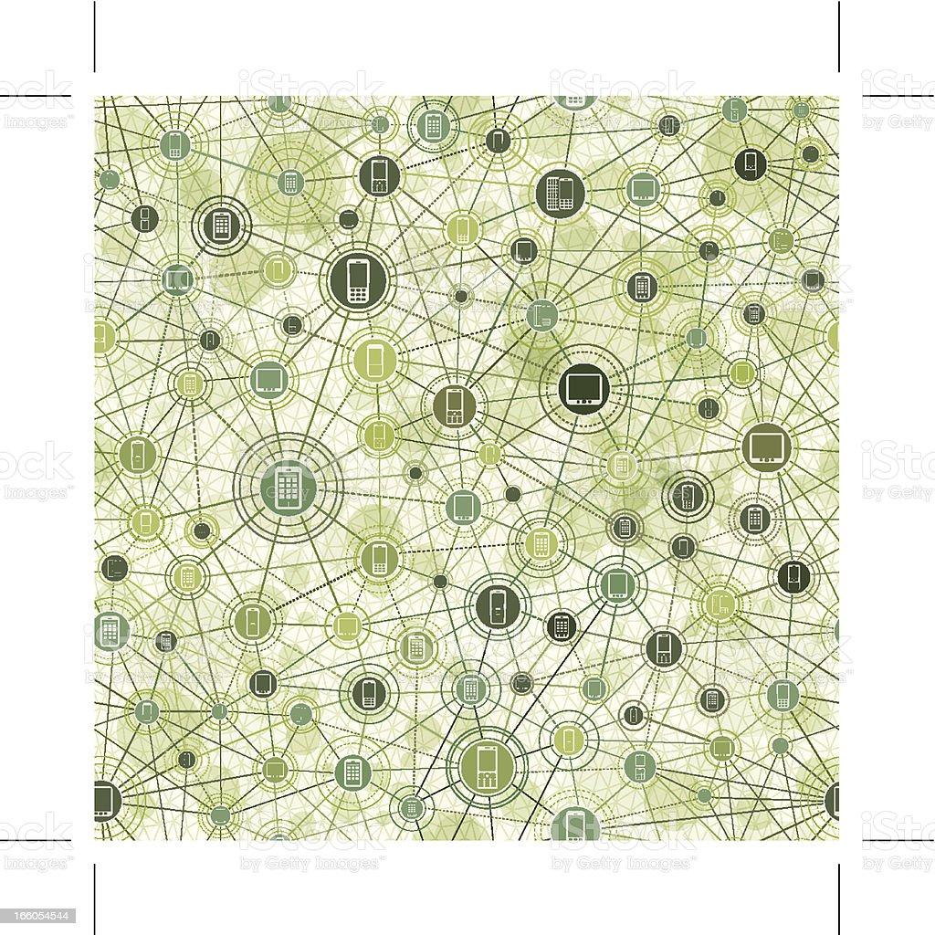 seamless mobile phone network wallpaper royalty-free stock vector art