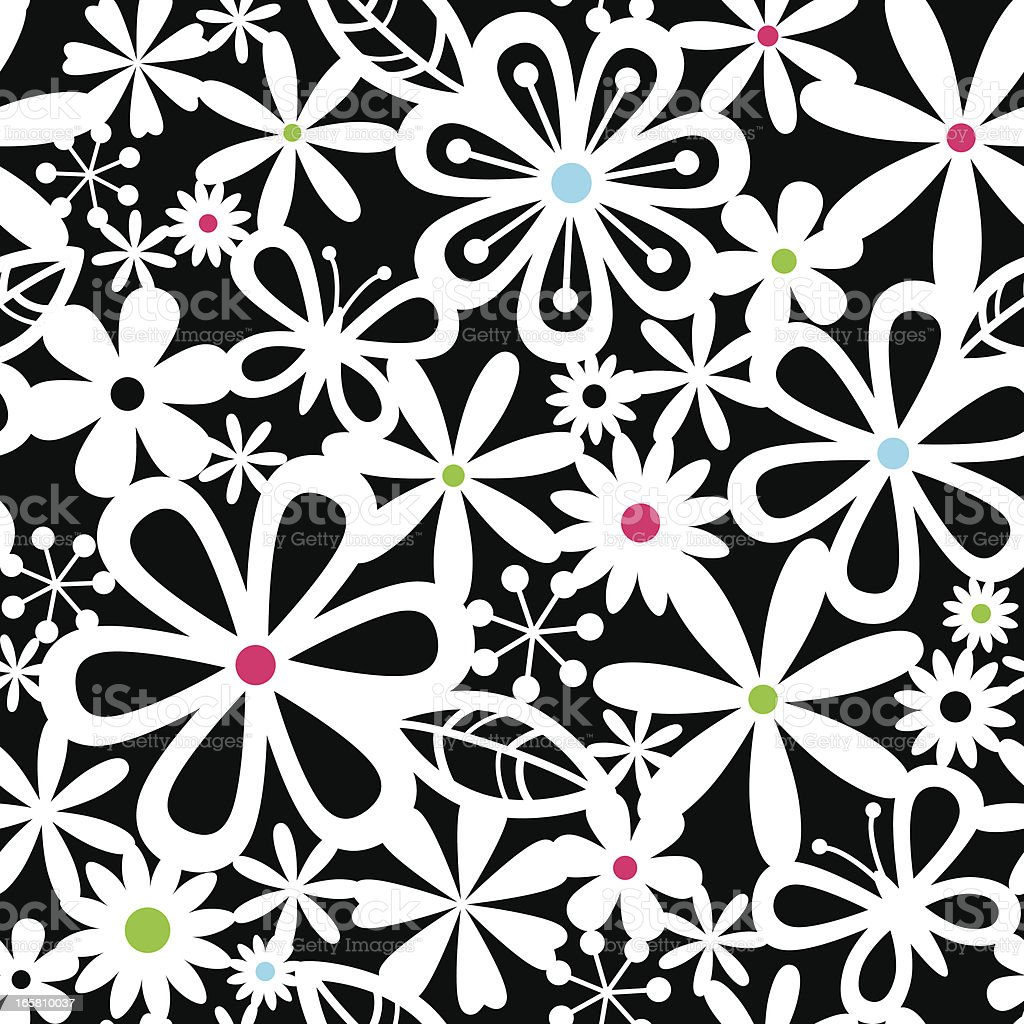 Seamless Modern Floral Pattern royalty-free stock vector art