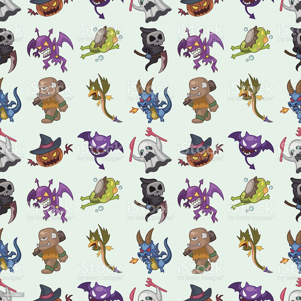 seamless monster pattern royalty-free stock vector art
