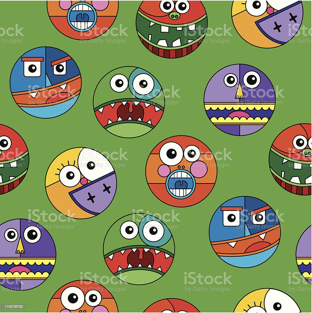 Seamless monsters royalty-free stock vector art