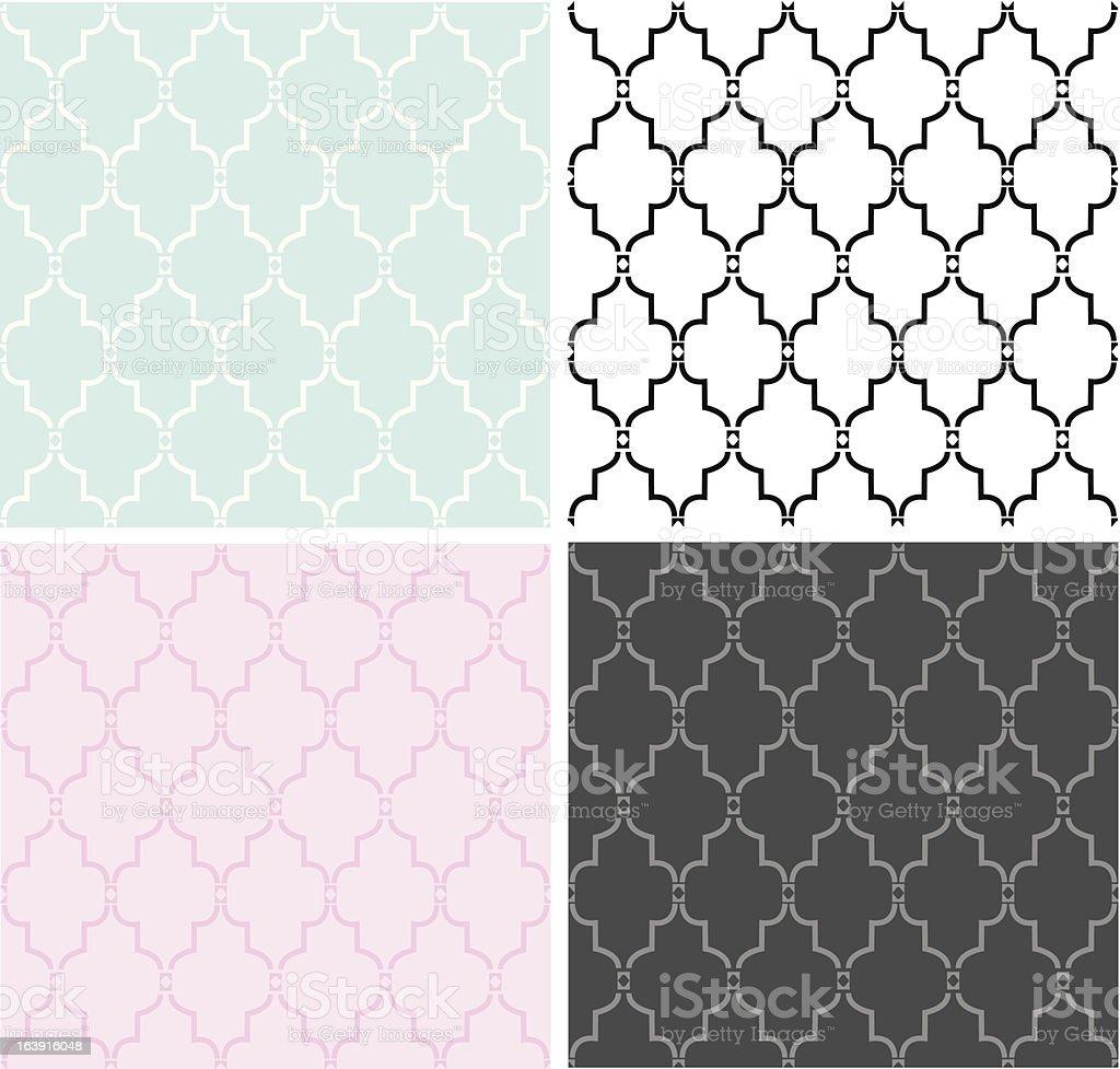 Seamless Morrocan Pattern vector art illustration