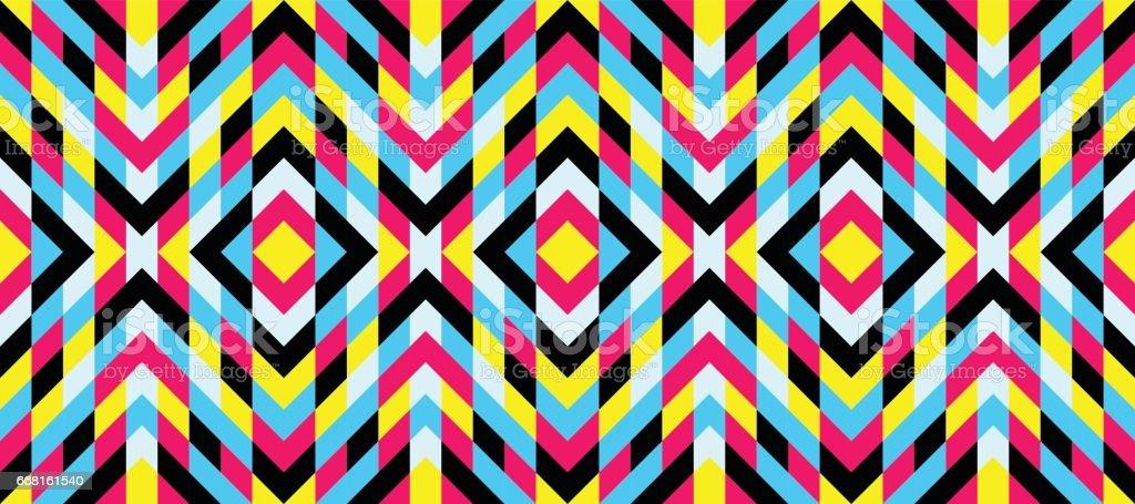 Seamless mosaic pattern. Geometric background. Vector Illustration. vector art illustration