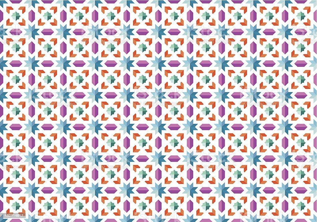 Seamless mosaic pattern vector art illustration