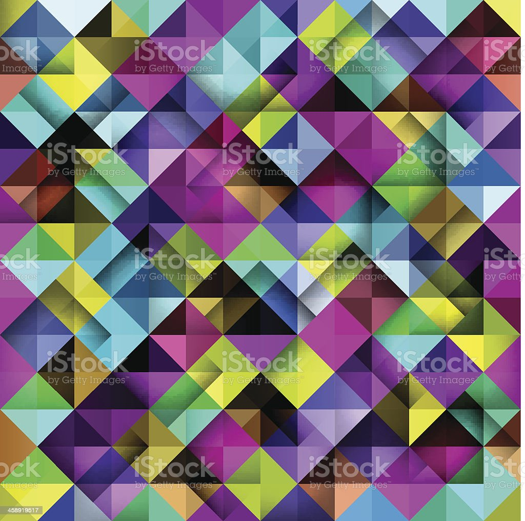 Seamless mosaic pattern. vector art illustration
