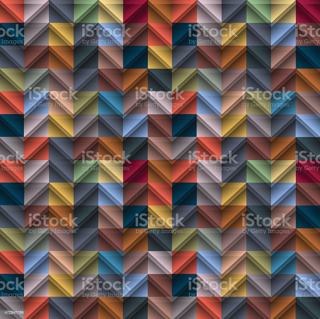 Seamless mosaic tile background royalty-free stock vector art