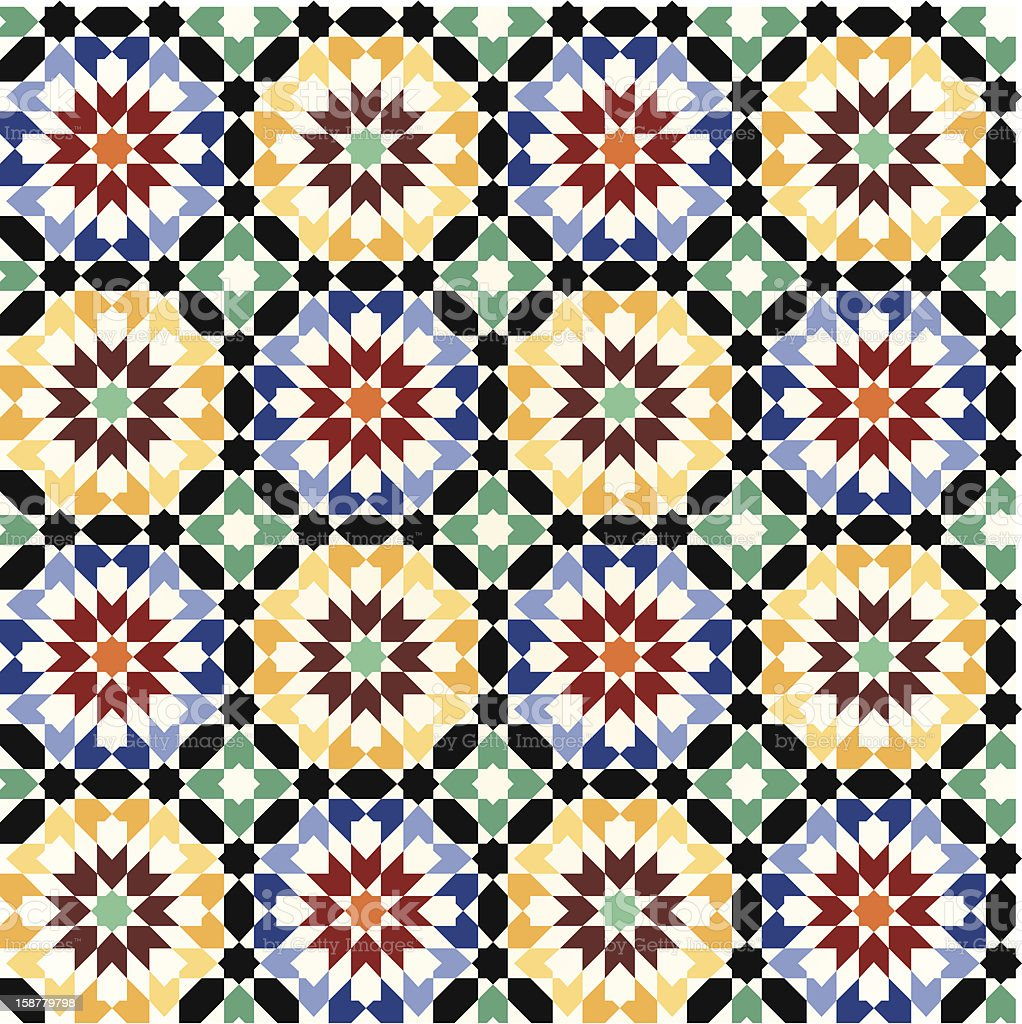 Seamless mosaic tile pattern royalty-free stock photo
