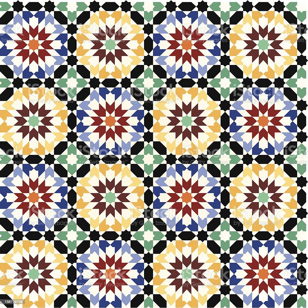Seamless mosaic tile pattern stock photo