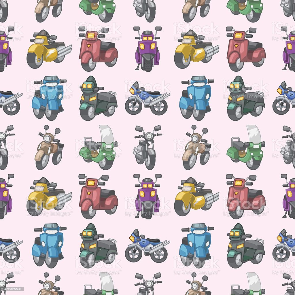 seamless motorcycles pattern royalty-free stock vector art