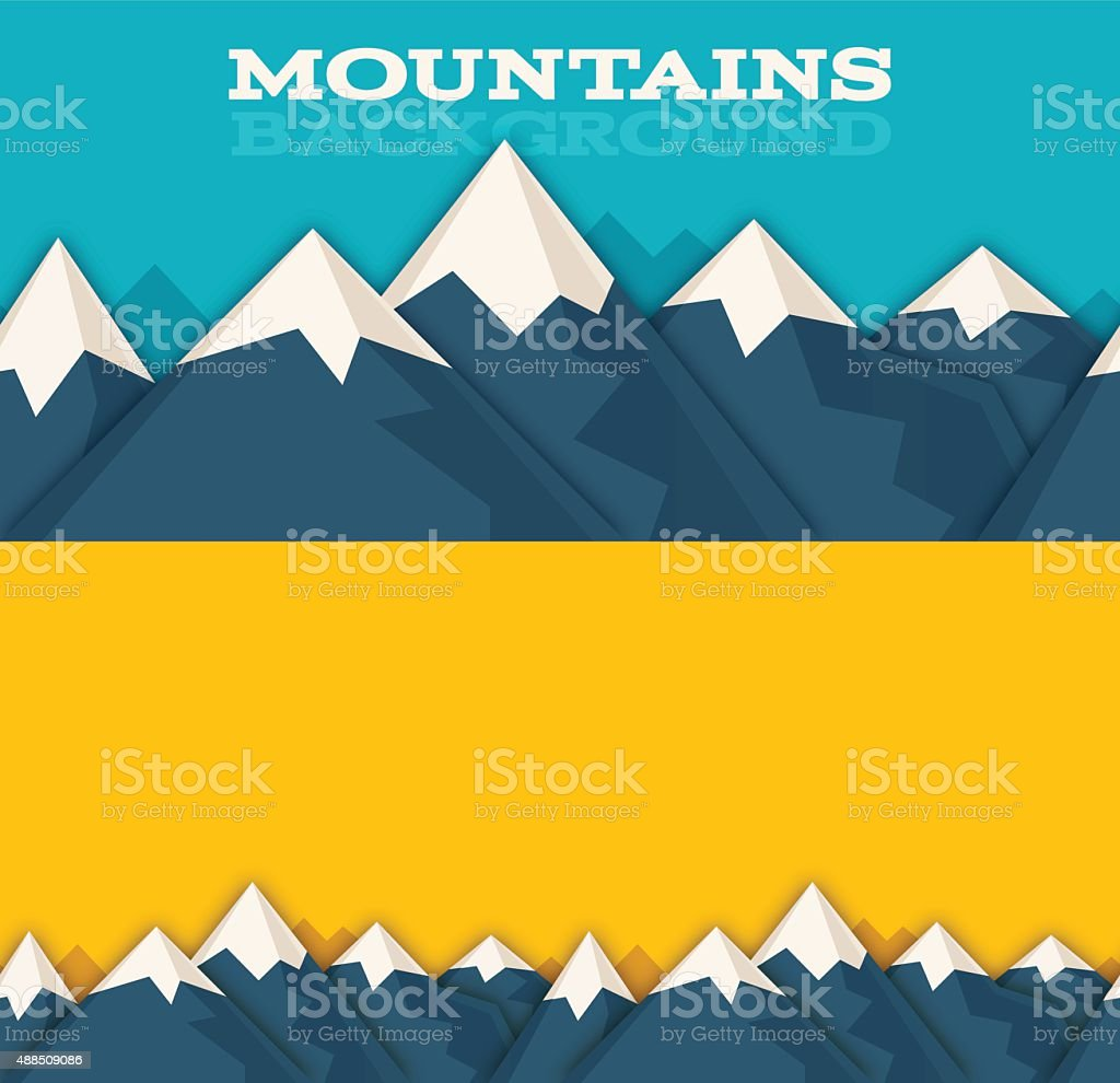 Seamless Mountain Background vector art illustration