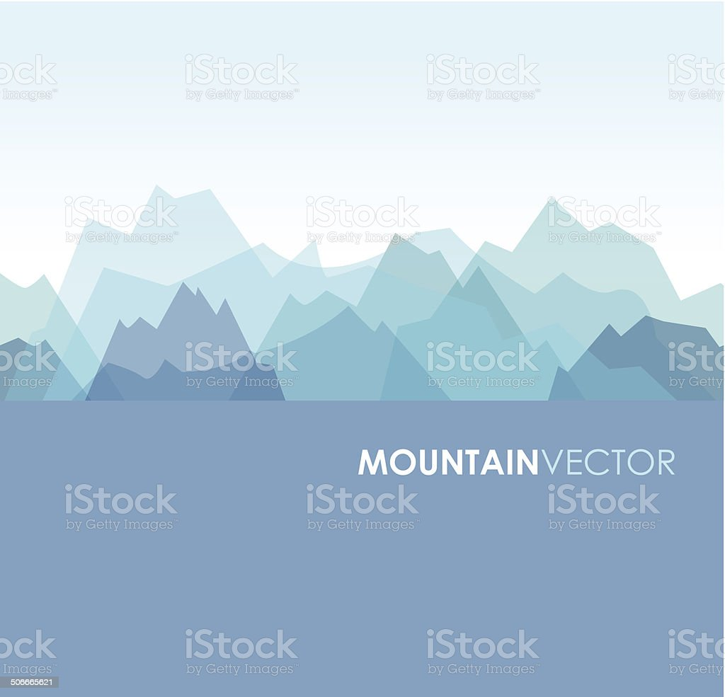 seamless mountains vector art illustration