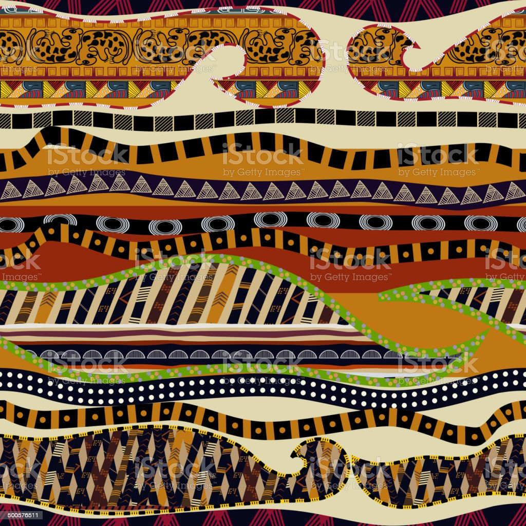 Seamless multicolor ethnic texture vector art illustration
