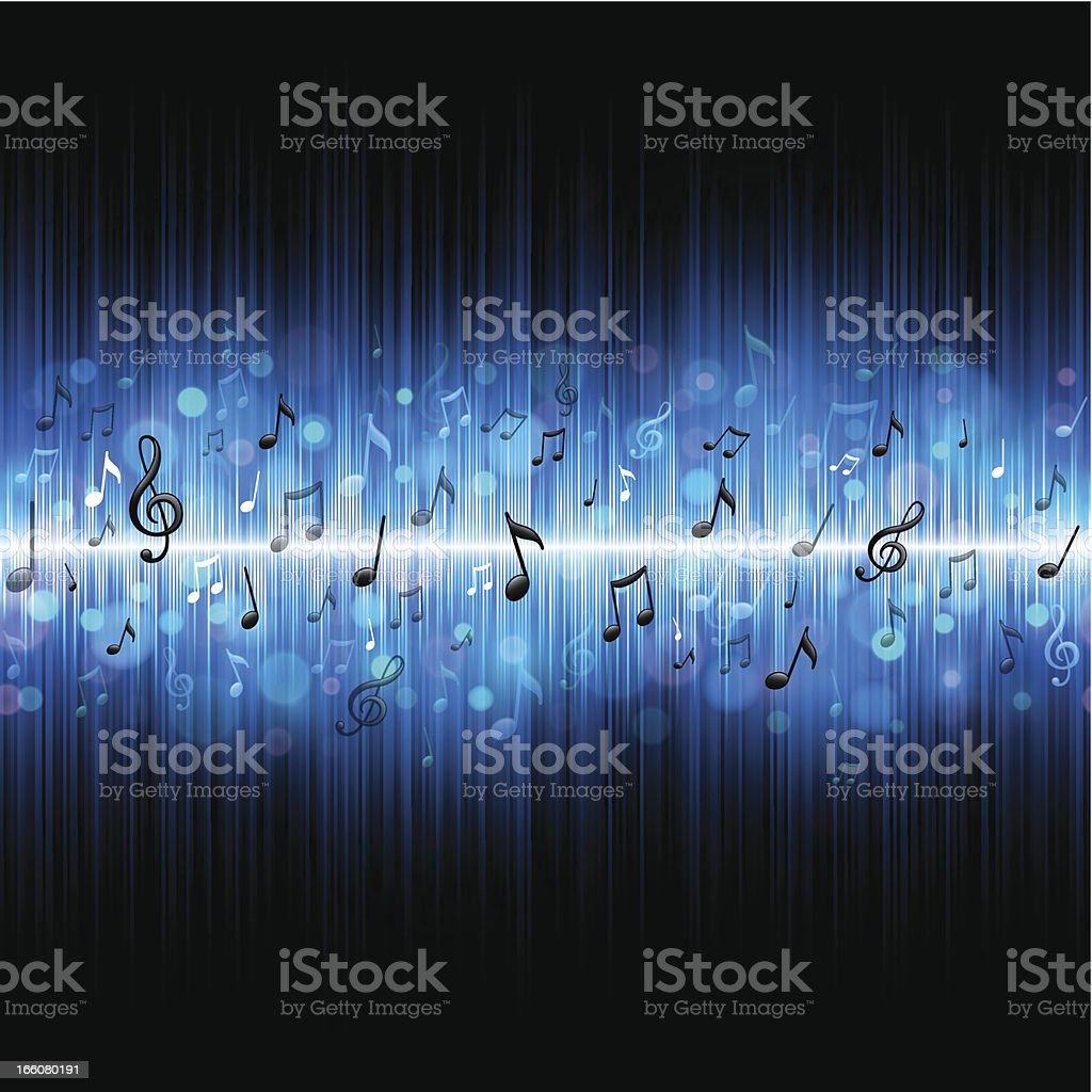 Seamless music background vector art illustration
