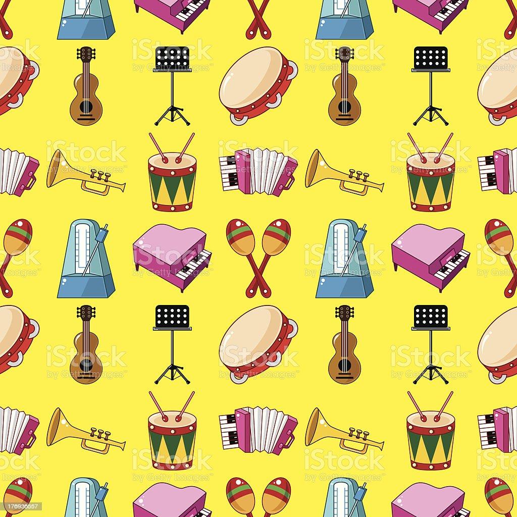 seamless music pattern royalty-free stock vector art