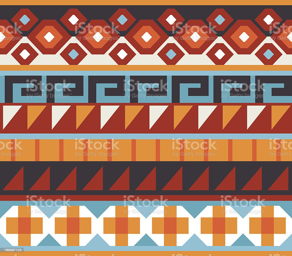Seamless - Native American, Aztec, Mian Pattern royalty-free stock vector art
