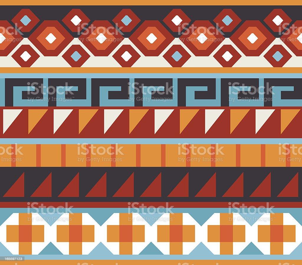 Seamless - Native American, Aztec, Mian Pattern vector art illustration