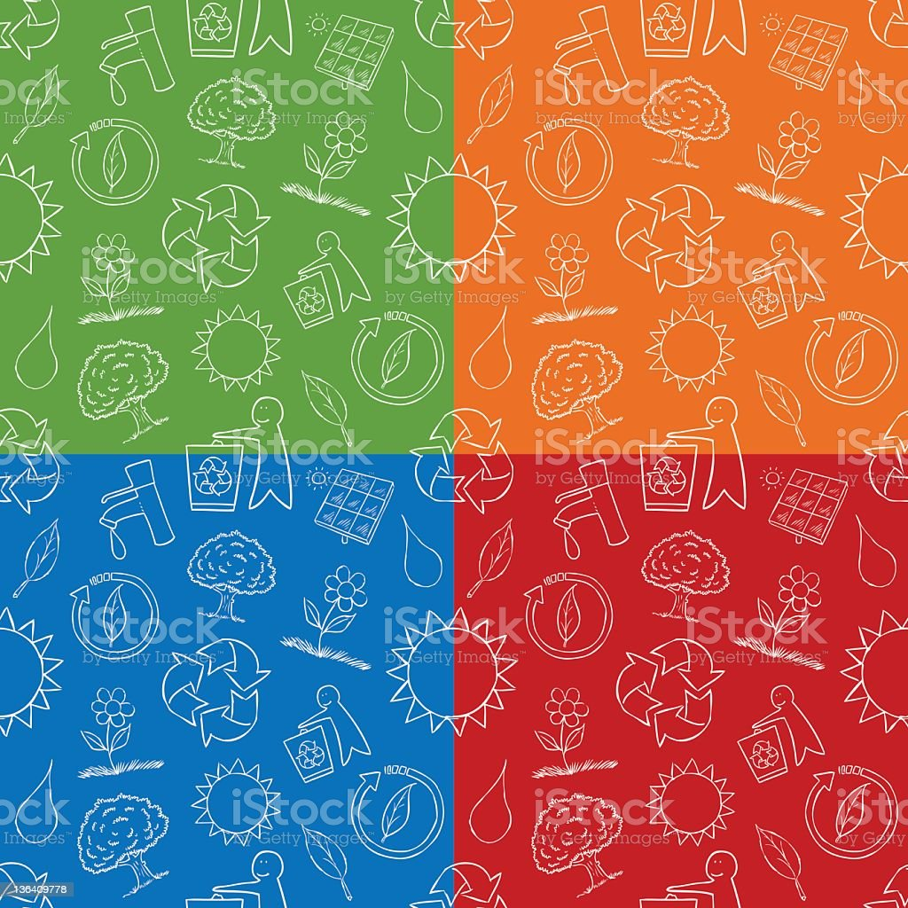 Seamless Natural Doodles royalty-free stock vector art