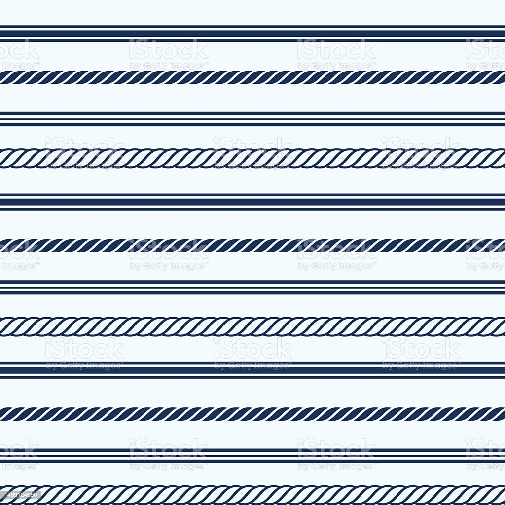 A seamless nautical pattern on a white background vector art illustration