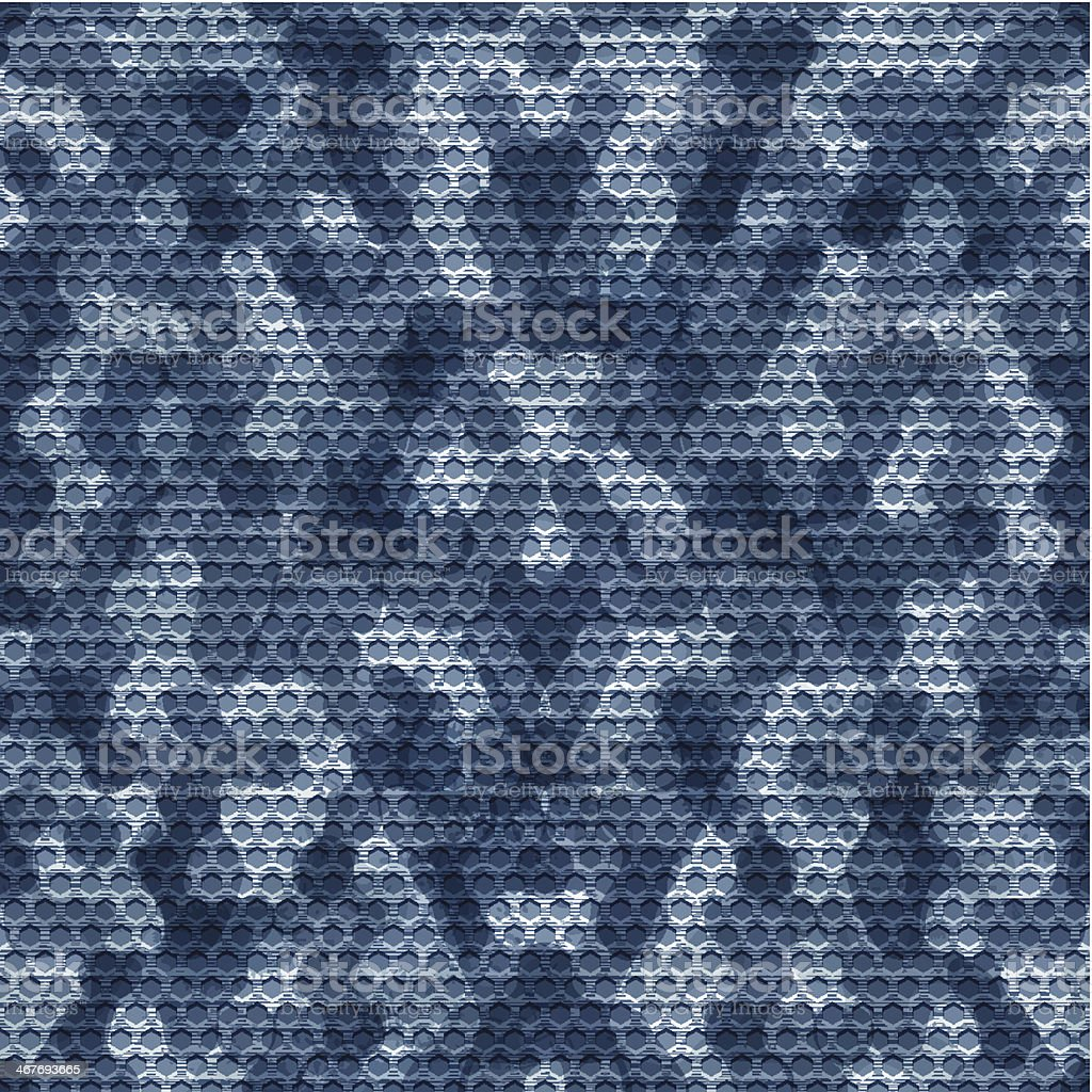 Seamless navy camouflage grid background royalty-free stock vector art