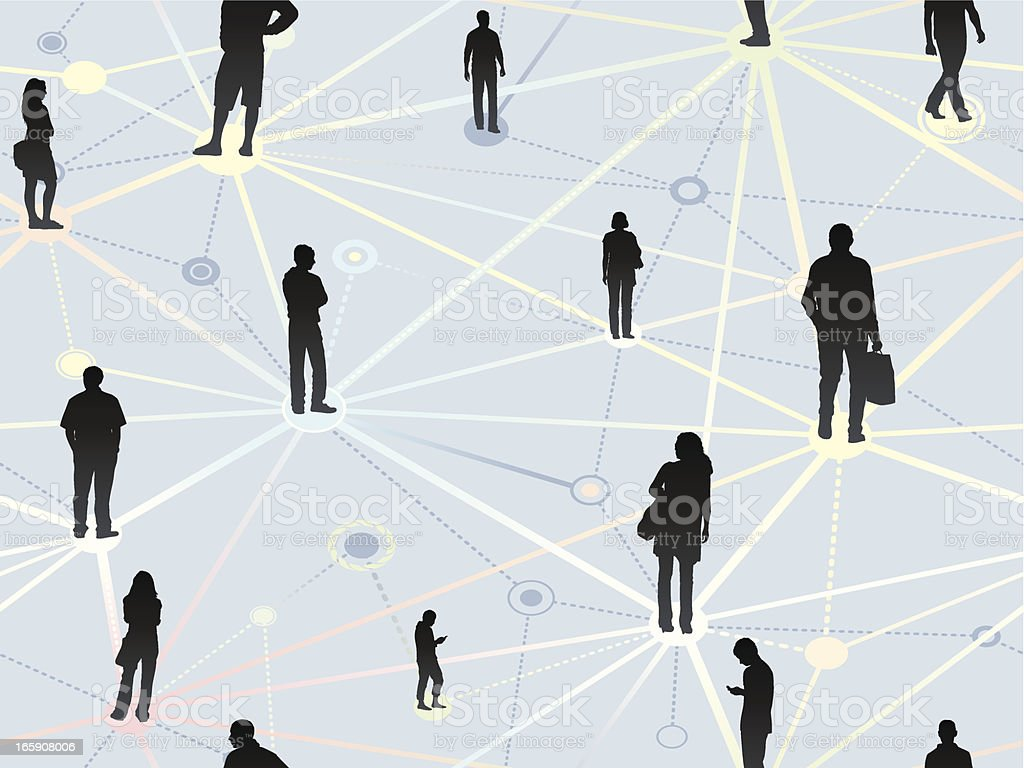 Seamless networking background vector art illustration