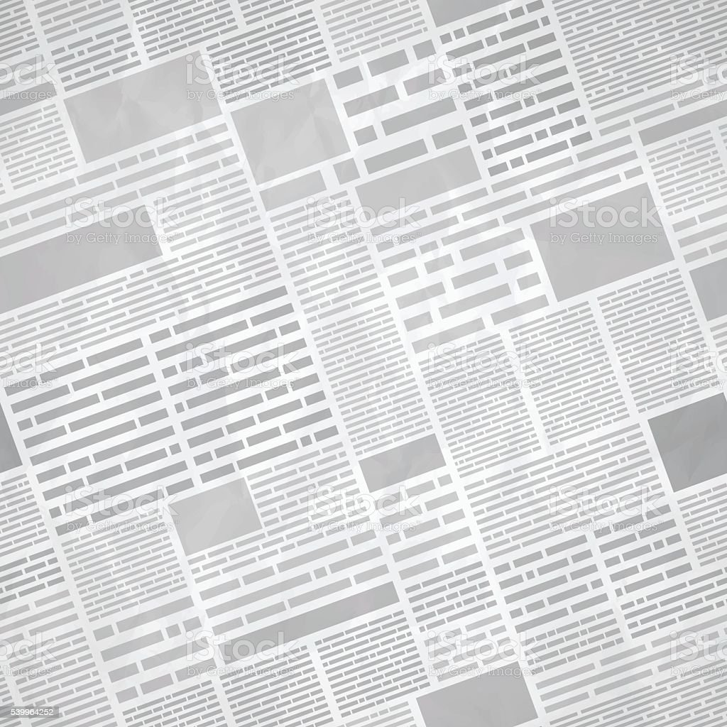 Seamless Newspaper Background vector art illustration