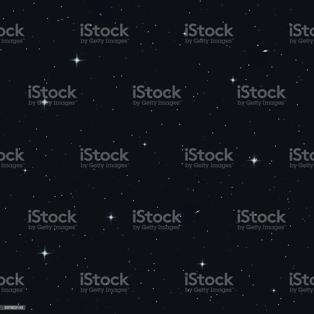 Seamless night sky vector art illustration