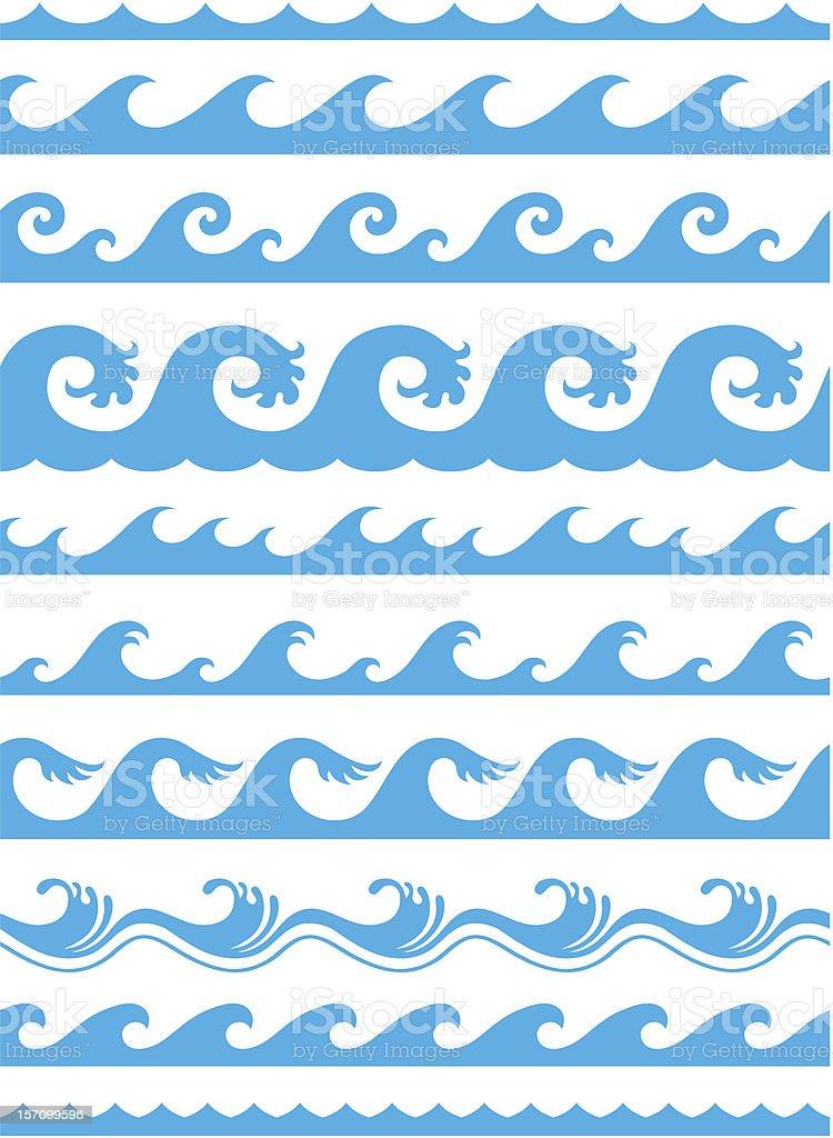 Seamless Ocean Wave Pattern stock vector art 157099596 ...  Ocean Water Pattern