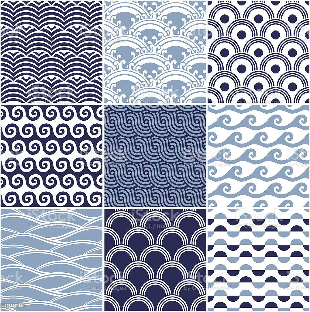 seamless ocean wave pattern stock photo