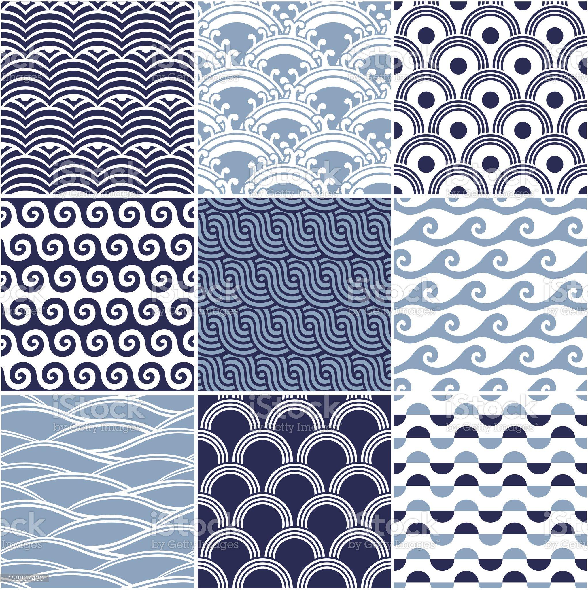 seamless ocean wave pattern royalty-free stock photo